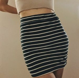 Striped high waisted skirt